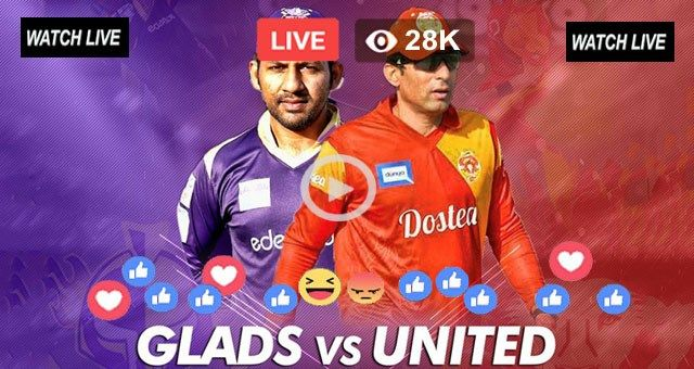 Watch Live Cricket PSL 2018 Islamabad United vs Quetta Gladiators 9th T20 Live Streaming PTV Sports Live at Sharjah Cricket Stadium, Sharjah on 28 February 2018. Watch PSL 2018 Live at LiveCricketP…
