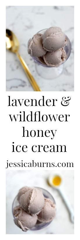 Incredible lavender & wildflower honey ice cream!