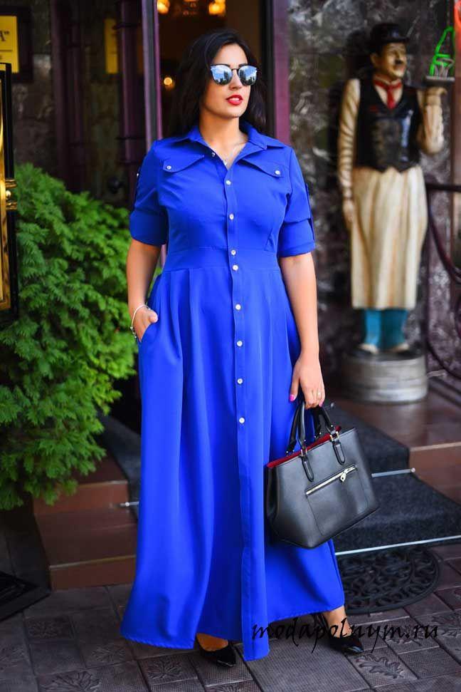 ae3d523eb47 Фасоны платьев для полных женщин — тонкости выбора