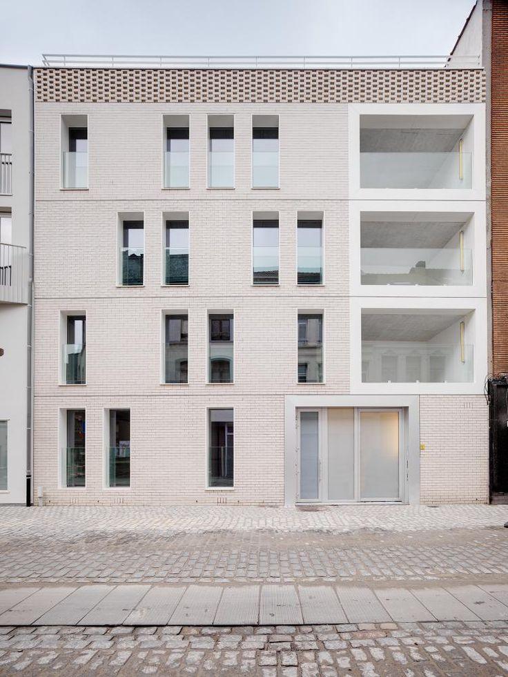 Voorgevel appartementen - Lange Beeldekensstraat 3