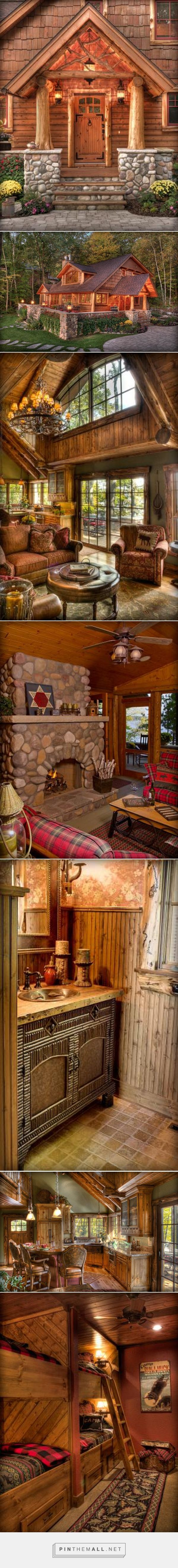This house is ticking off all the boxes for me in what I want in a log home. - collage created via http://pinthemall.net (Entrance Step Design)