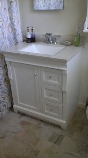 Foremost, Naples 30 in. W x 21-7/8 in. D x 34 in. H Vanity Cabinet Only in White, NAWA3021D at The Home Depot - Mobile