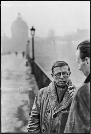 Study in Henri Cartier-Bresson Sartre