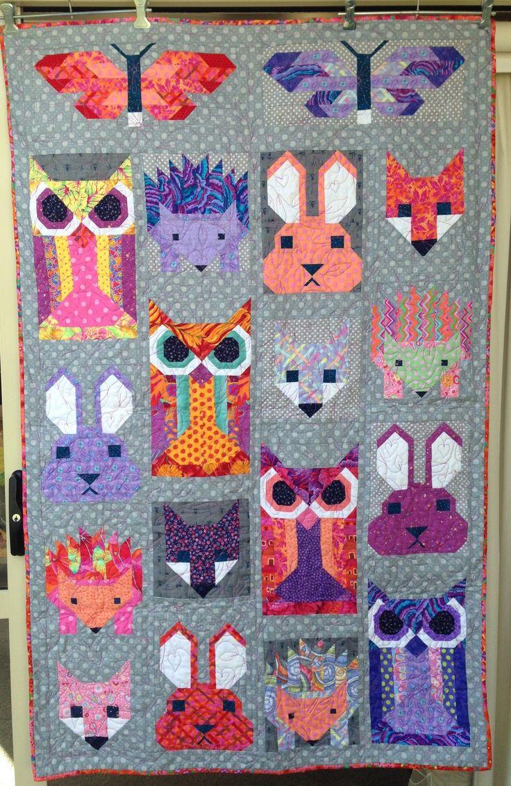 Fancy Forest Front of Lilah's quilt. Elizabeth Hartman design