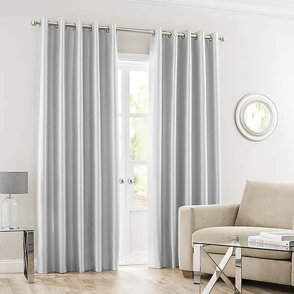 Montana Silver Eyelet Curtains In 2020