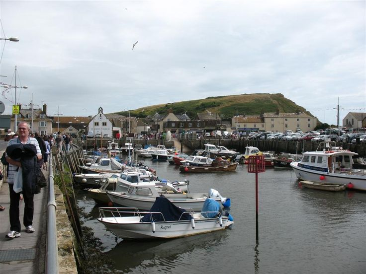 West Bay in Dorset - filming location for the television series Broadchurch starring David Tennant.