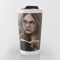 Travel Mug featuring Amelia by Mascmallow