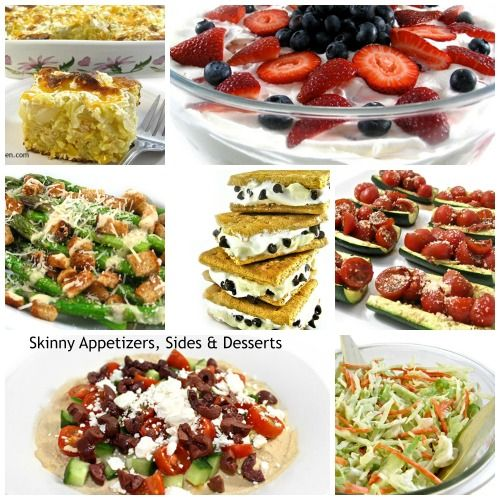 25 Skinny Appetizers, Sides and Desserts for Memorial Day Weekend. It's so easy to keep it delicious and skinny! http://www.skinnykitchen.com/recipes/25-skinny-appetizers-sides-and-desserts-for-memorial-day-weekend/