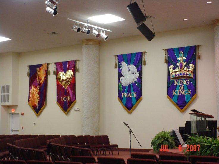 church flags and banners
