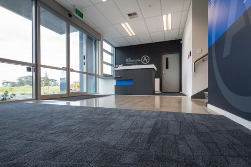 The Base Element - Tough, attractive and sustainable carpet tiles create an amazing space