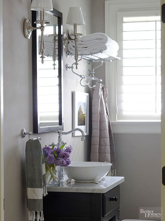Small Bathroom Remodeling Chrome Finish Faucets And Towels