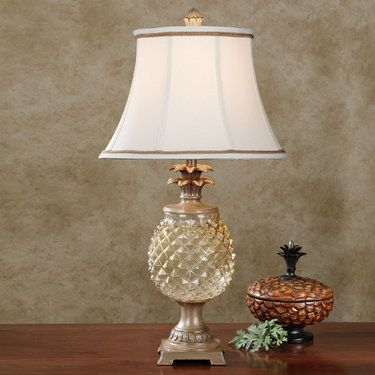 Brantley Glass Pineapple Table Lamp Via Fashionable