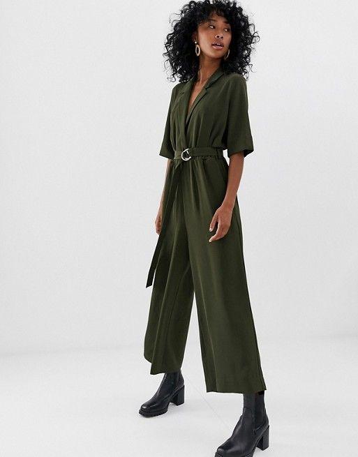 d4ec26339f9f Mono largo de sastre en verde caqui de Weekday | shopping | Tailored ...