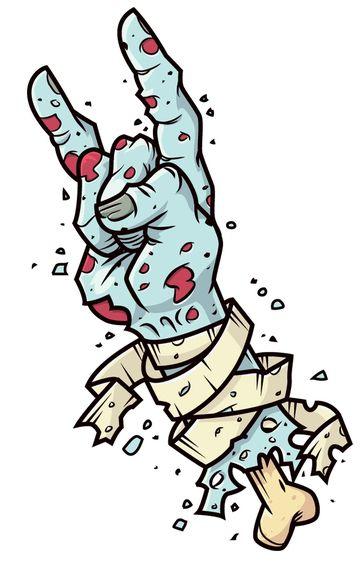Zombiehands, beyond this life! by Fernando González, via Behance