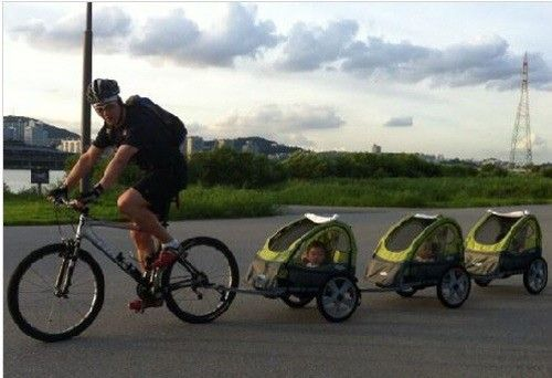 song il gook and triplets. This is so cute!
