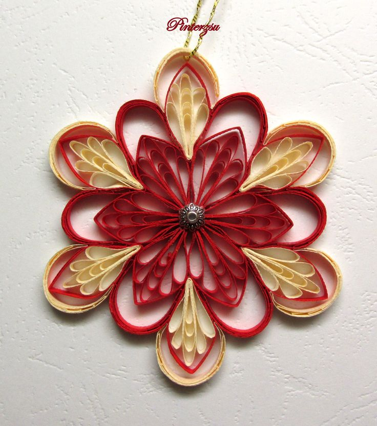 150 best images about quilled snowflakes on quilling ornament and