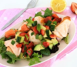 Salmon with Summer Zing Salsa