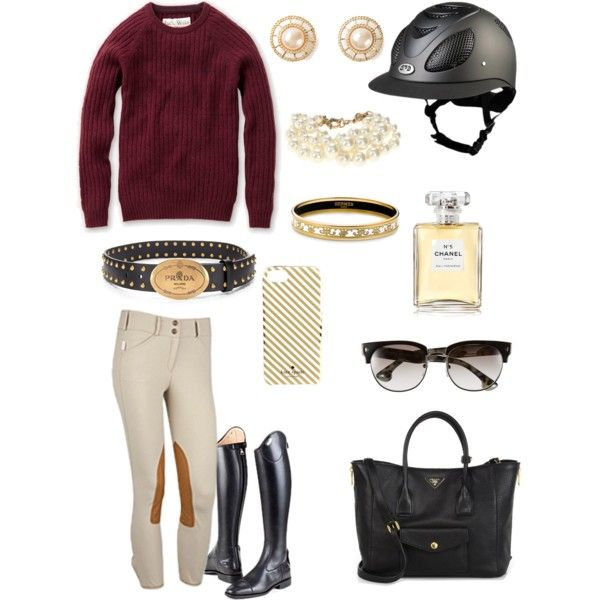 """""""Prada and Pearls"""" by adastaley on Polyvore"""
