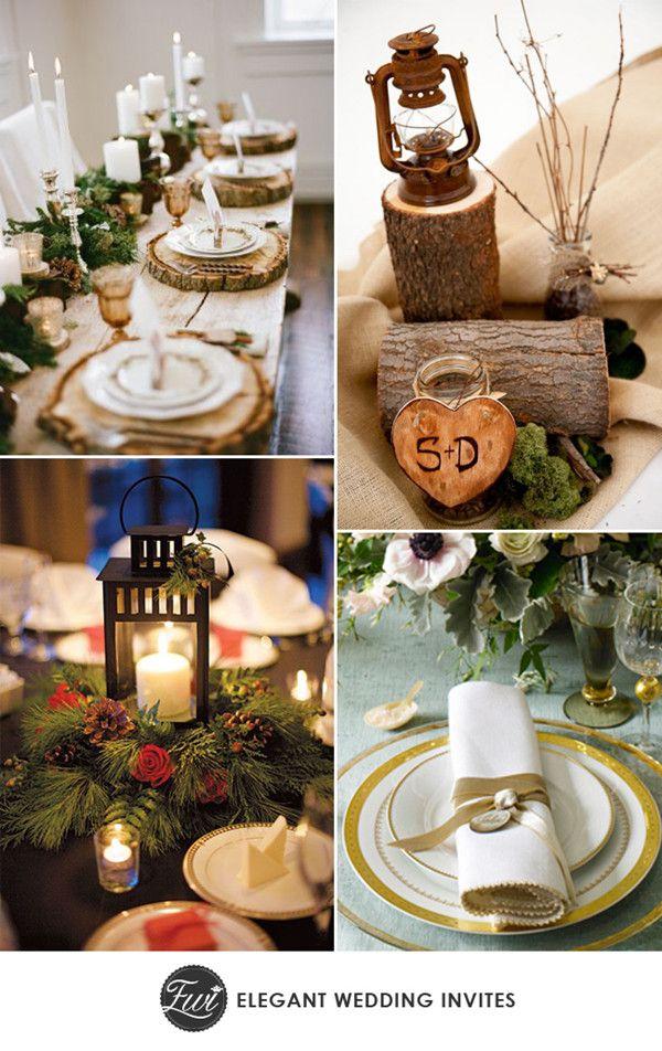 2014 trending chic rustic winter wedding reception ideas