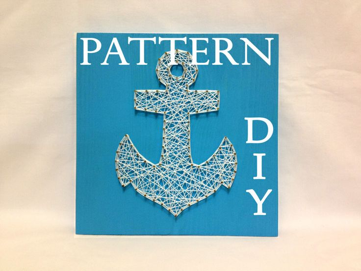 DIY String Art Pattern Anchor Pattern and tutorial от OneRoots