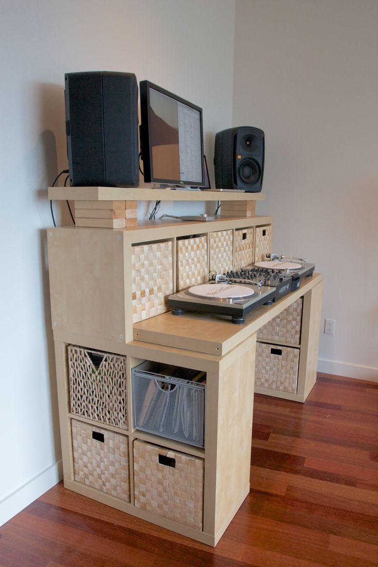 Ikea kallax schreibtisch ideen  Die 25+ besten Ikea record storage Ideen auf Pinterest | Platten ...