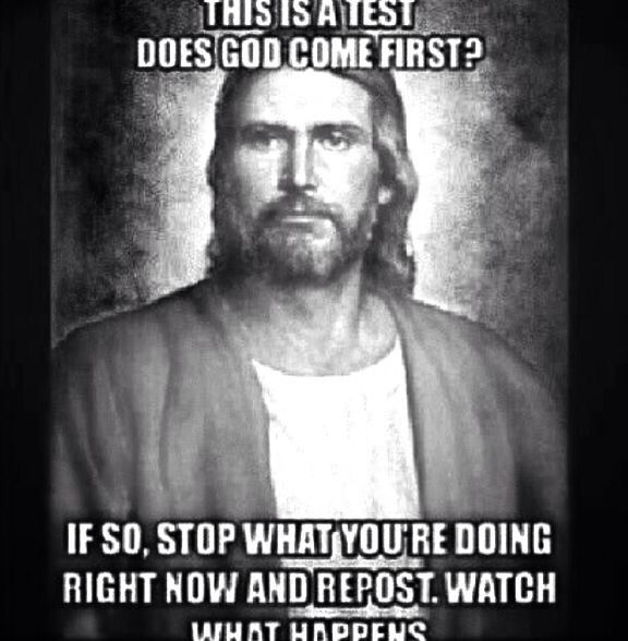 """Not posting for the """"see what happens next"""" just reposting cuz God comes first"""