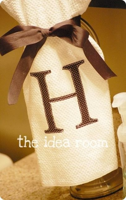 DIY Home Decor   How to add your own monogram to a hand towel