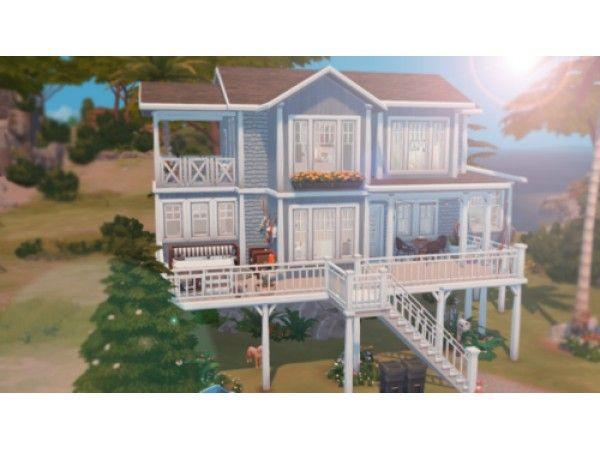 The Sims 4 Beach Summer House By Dark Ogre Sims 4 House Design Sims House Sims House Design