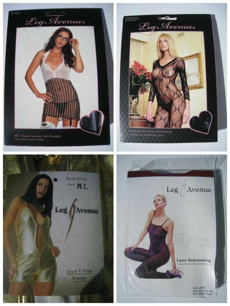 Lot of 12 Women's Intimates Outfits Bodystocking Naughty Secretary LEG AVENUE
