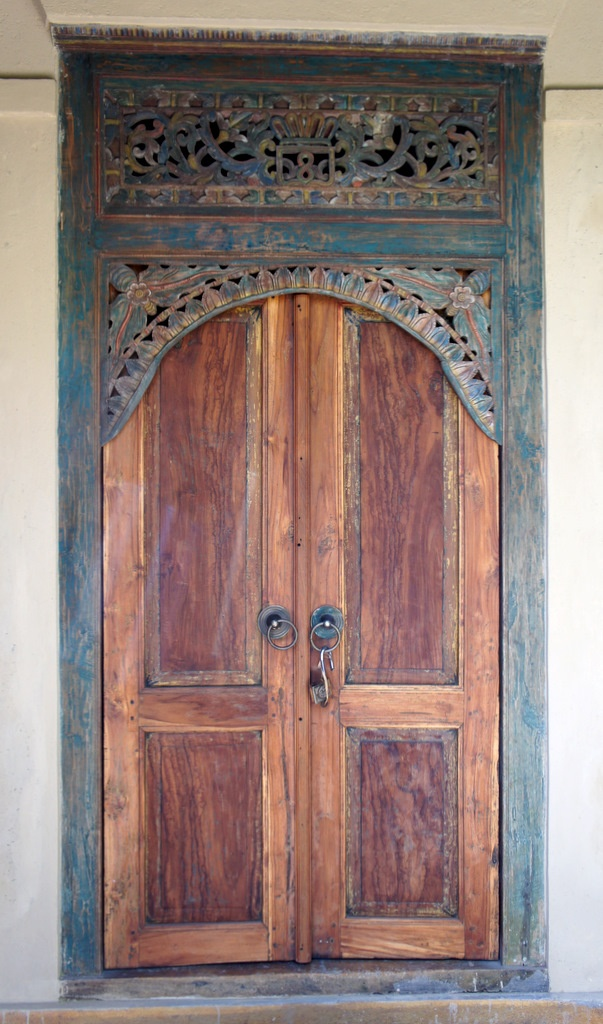 Javanese teak wood door gotta get in to get out for Teak wood doors in bangalore