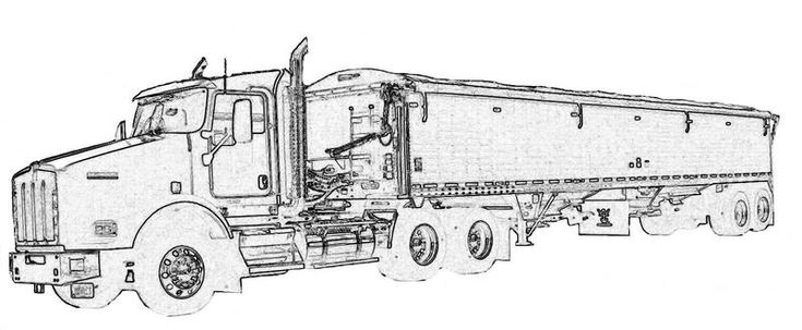 Semi Truck Coloring Pages Semi