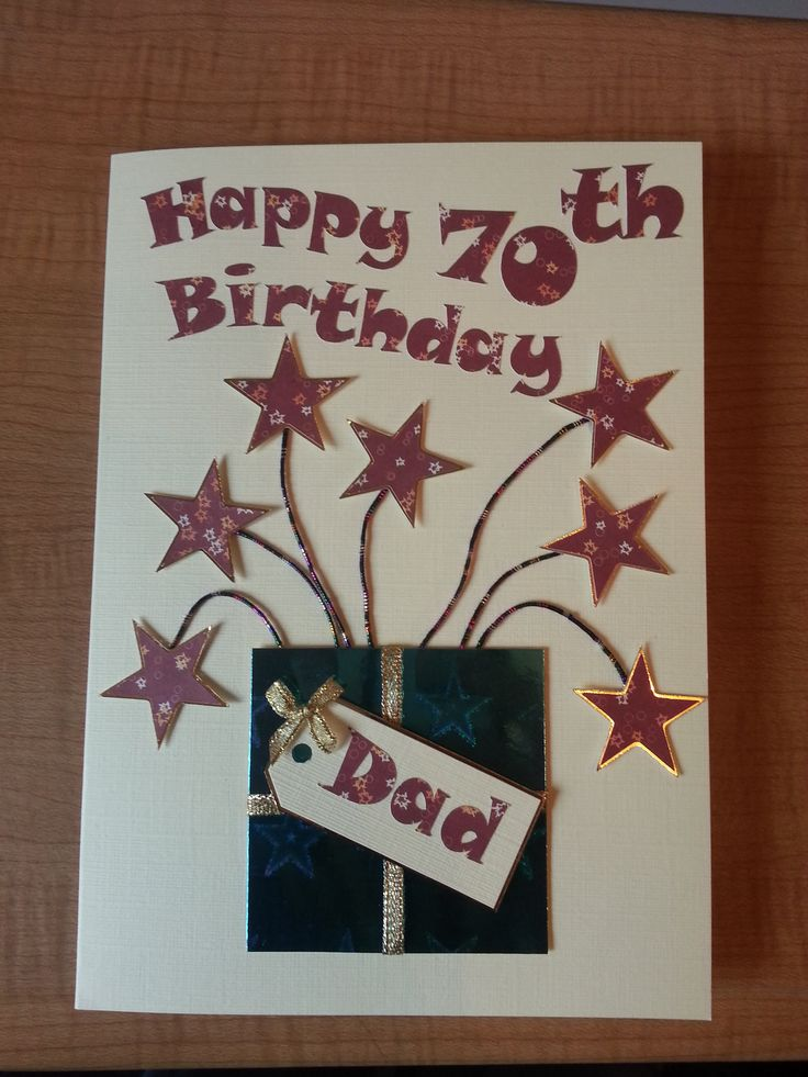 Was asked to make a 70th Birthday card for someone's Dad