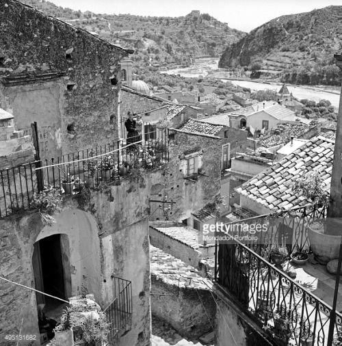 Foreshortening view of the medieval village of Guardavalle, seen... #guardavalle: Foreshortening view of the medieval village… #guardavalle