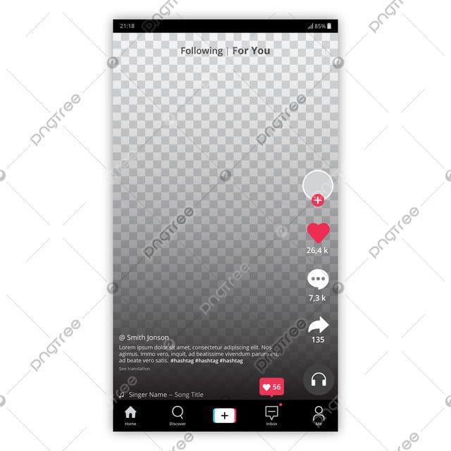 Tiktok Interface Design Audio Application Tiktok S Png And Vector With Transparent Background For Free Download Interface Design Interface Mobile Application Design