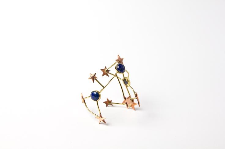 Rigid 80´s bracelet with lapis lazuli
