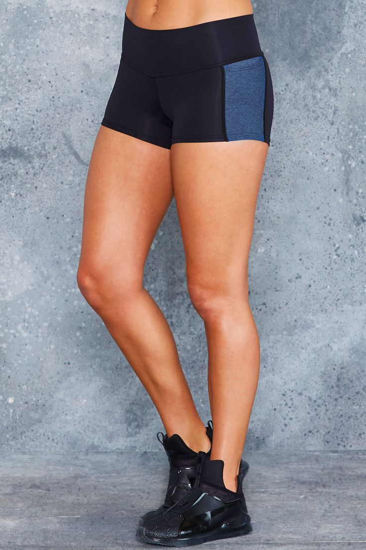 Spliced Blue Trainer Shorts - LIMITED ($65AUD) by BlackMilk Clothing