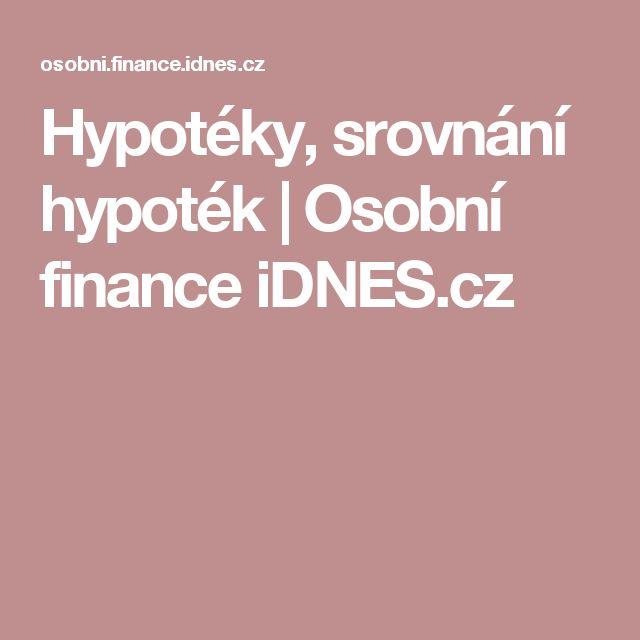 Hypotéky, srovnání hypoték | Osobní finance iDNES.cz