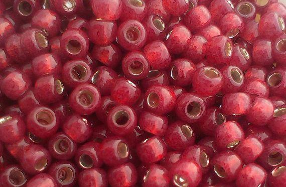 Toho Seed Beads 8/0 SilverLined Milky by GatewaytoBeads on Etsy, kr7.00