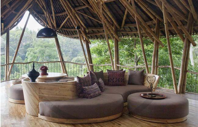 Bamboo house by Ibuku