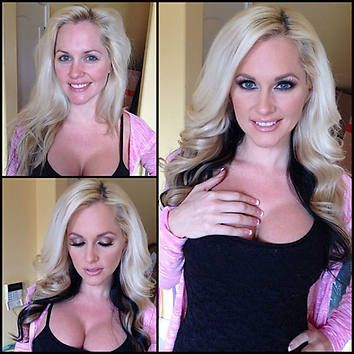 What make-up can do! (disclosure: this pic is from a German-language article on porn actresses)