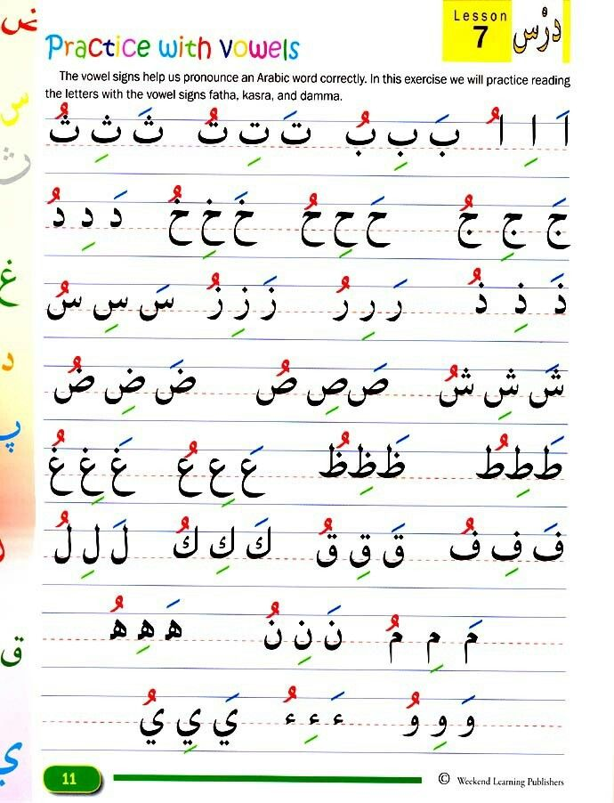 Arabic vowels                                                                                                                                                                                 More