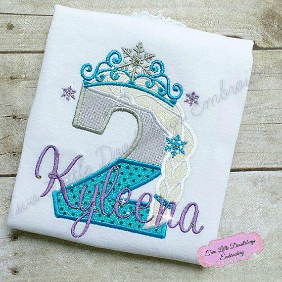 Frozen Birthday Shirt-Frozen Princess Birthday Shirt-Disney Trip-Personalized Shirt-Birthday Shirt-Princess Shirt-Princess Crown
