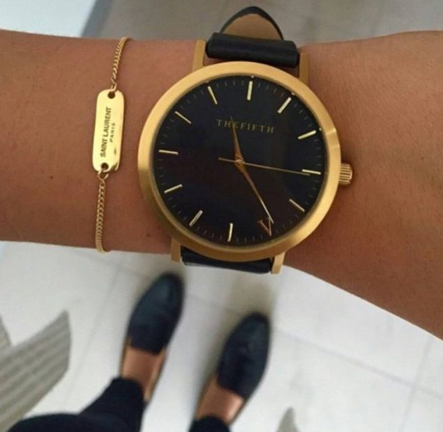 Black + Gold Timepiece