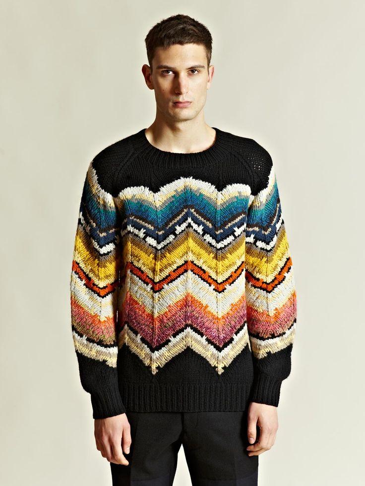 Dries Van Noten Men's Midas Sweater   LN-CC... it's like the modern Cosby sweater incarnation.
