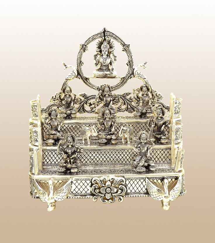 VJS-101 Antique Sterling Silver Pooja Articles