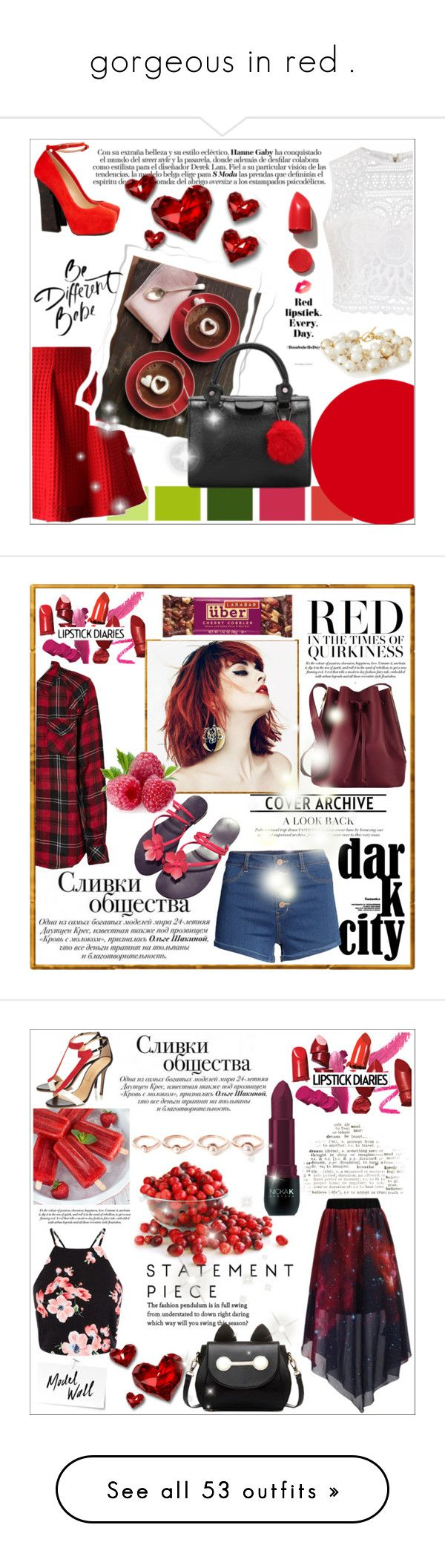 """gorgeous in red ."" by ainzme ❤ liked on Polyvore featuring Ally Fashion, Chicwish, Aperlaï, The Limited, NARS Cosmetics, Rails, H&M, Sophie Hulme, Camilla Elphick and Nicka K"