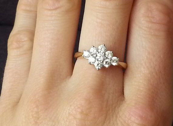 Vintage 1.00 carat Floral Diamond Engagement Ring by ArahJames
