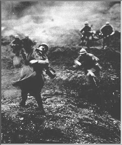WWI. Battle of Verdun. France  The Battle of Verdun was the longest battle of World War I and the world history. It was fought from February 21 to December 18, 1916, between the French and German armies around the town of Verdun, France. The battle involved more than two and a half million men.