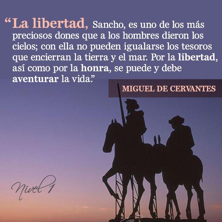 Miguel de Cervantes #libertad #escritor