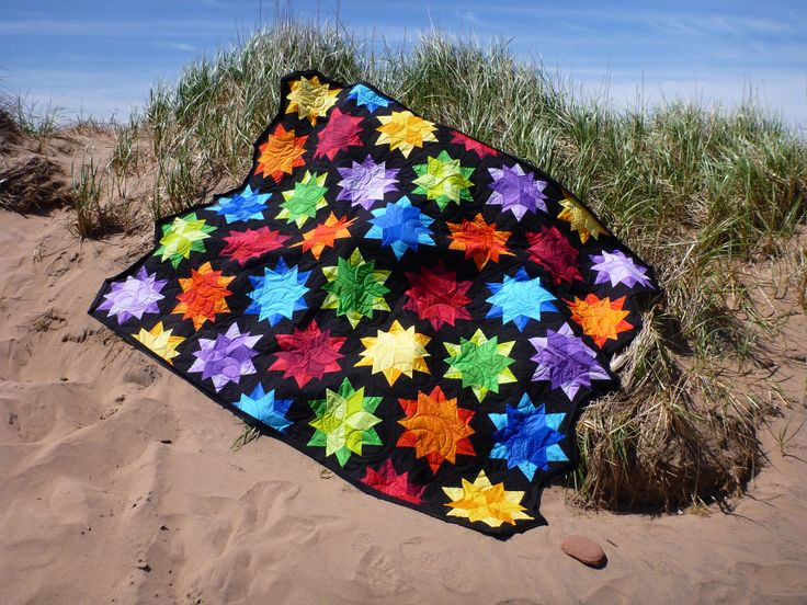 Night Sky by Jaybird Quilts. Made and photographed by Jean MacKie in Prince Edward Island, Canada.